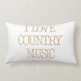 Amo música country almohada