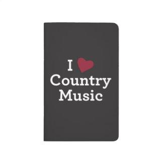 Amo música country cuadernos