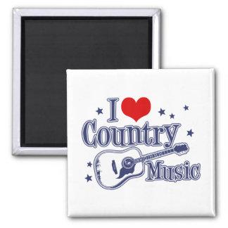 Amo música country imán de nevera