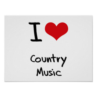 Amo música country posters