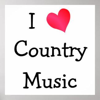 Amo música country poster