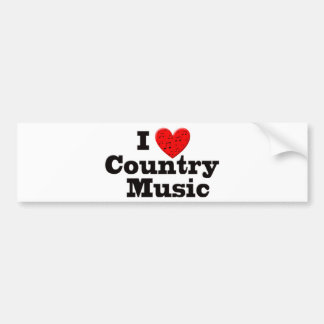 Amo música country pegatina para auto