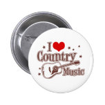 Amo música country pin