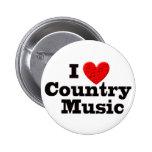 Amo música country pins
