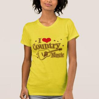 Amo música country camiseta