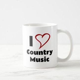 Amo música country tazas