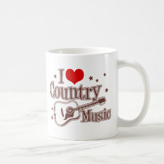 Amo música country tazas de café