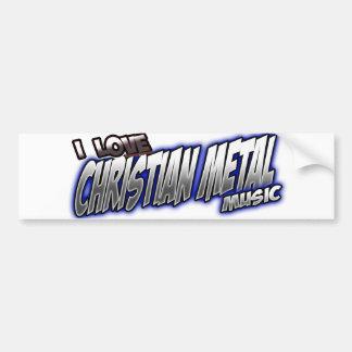 Amo música CRISTIANA del METAL Pegatina Para Auto
