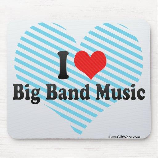 Amo música de big band tapete de ratones