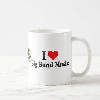 Amo música de big band taza