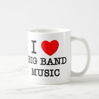 Amo música de big band taza de café
