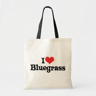Amo música de Bluegrass Bolsa Lienzo