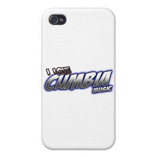 Amo música de CUMBIA iPhone 4 Carcasas