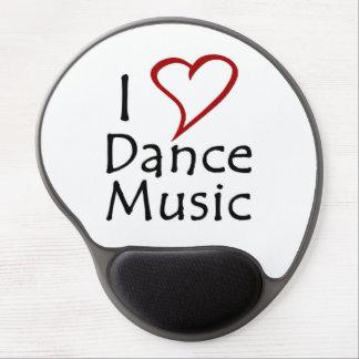 Amo música de danza alfombrilla de ratón con gel