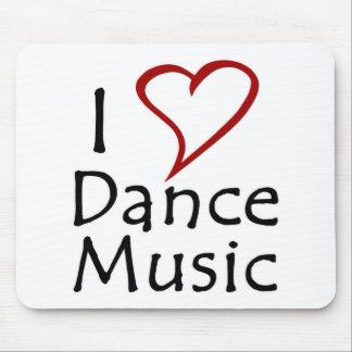Amo música de danza mouse pads