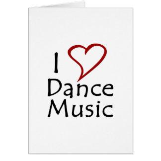 Amo música de danza tarjeta de felicitación