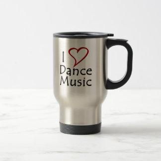 Amo música de danza taza de viaje de acero inoxidable