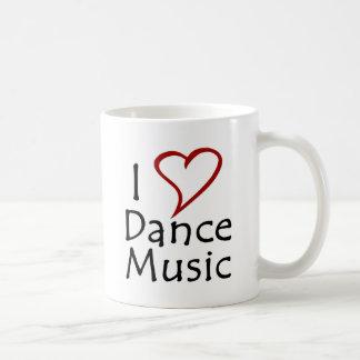 Amo música de danza taza
