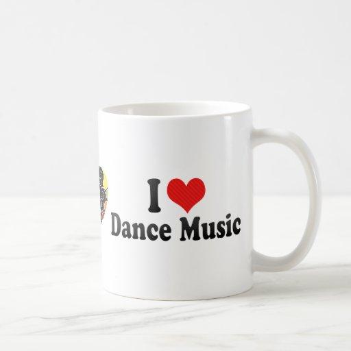 Amo música de danza tazas de café