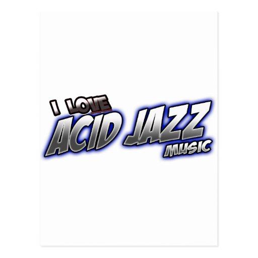 Amo música de JAZZ ÁCIDA Postales