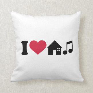 Amo música de la casa cojin