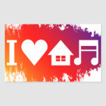 Amo música de la casa etiquetas