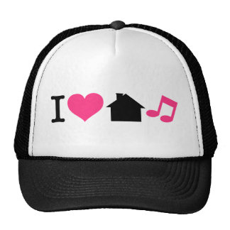 Amo música de la casa gorros bordados