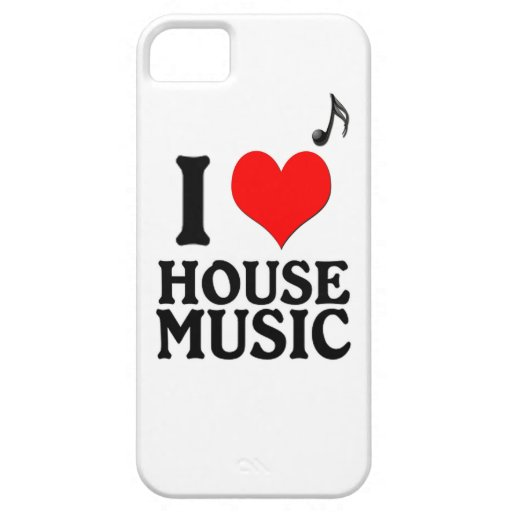Amo música de la casa iPhone 5 funda