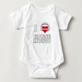 Amo música de la casa mameluco de bebé