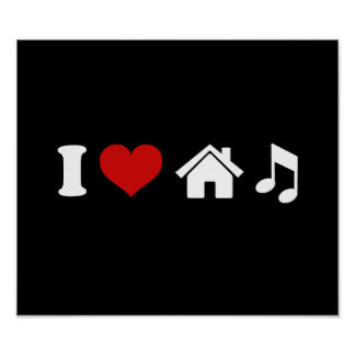 Amo música de la casa impresiones