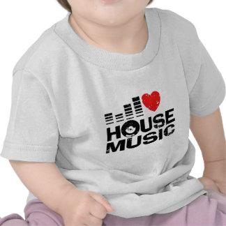 Amo música de la casa camisetas