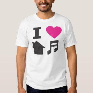Amo música de la casa playeras