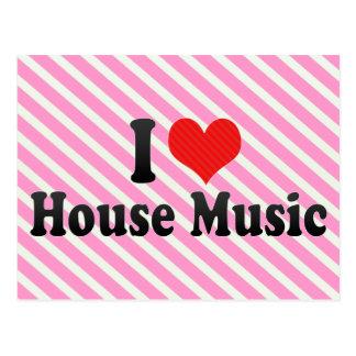 Amo música de la casa postales