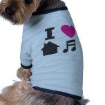 Amo música de la casa prenda mascota