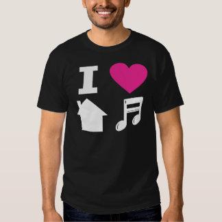 Amo música de la casa remeras