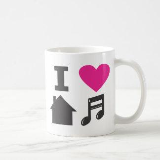 Amo música de la casa taza de café
