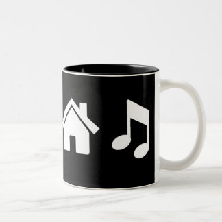 Amo música de la casa taza dos tonos