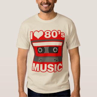 amo música de los años 80 poleras