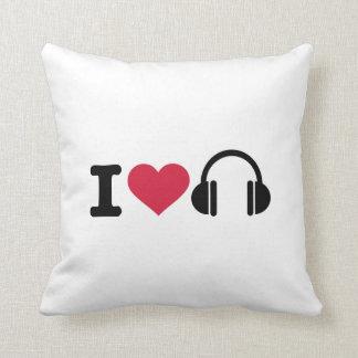 Amo música de los auriculares almohada