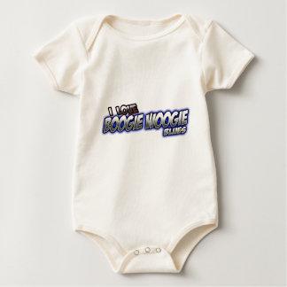 Amo música de los AZULES de Woogie de la boogie Body Para Bebé