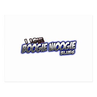 Amo música de los AZULES de Woogie de la boogie Postal