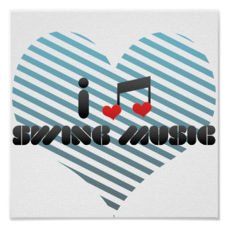 Amo música de oscilación posters