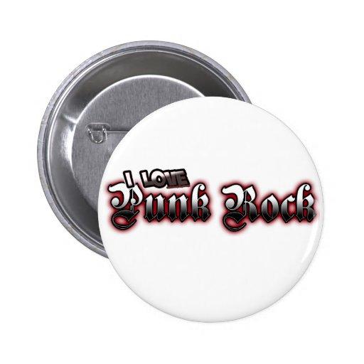 Amo música de PUNK ROCK Pin Redondo 5 Cm
