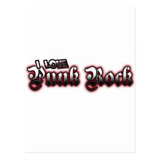 Amo música de PUNK ROCK Tarjetas Postales