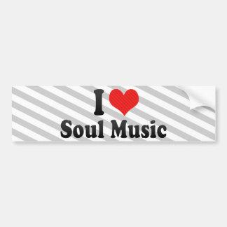 Amo música del alma pegatina de parachoque