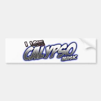 Amo música del CALYPSO Pegatina Para Auto