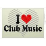 Amo música del club felicitación