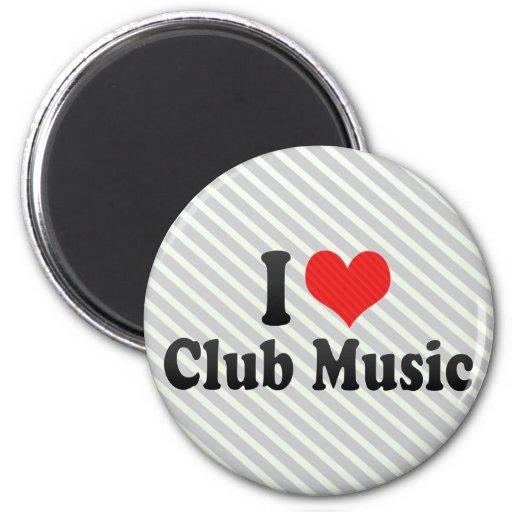 Amo música del club iman de frigorífico
