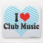 Amo música del club tapetes de raton