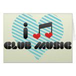 Amo música del club tarjeta